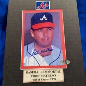 Braves Eddie Matthews Autograph photo